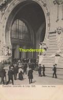 CPA EXPOSITION DE LIEGE 1905 CARTE OFFICIELLE No 183  ( Vierge )  ENTREE DES HALLES - Luik