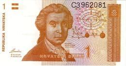 CROATIA 1 DINAR 1991 UNC [ HR301a ] - Croatia
