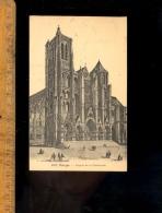 BOURGES Cher 18 : Façade De La Cathédrale D'après Gravure  1924 - Bourges