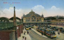 DE HALLE / Hauptbahnhof / CARTE COULEUR - Allemagne