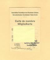 SVIZZERA - ASSOCIATION TOURISTIQUE DES CHEMINOTS SUISSES - CARTE DE MEMBRE- 1953 - - Organizzazioni