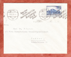Brief, EF Staatsoper, Bandstempel Besuchen Sie Das Heeresgeschichtliche Museum Wien, Nach Passau 1956 (45792) - 1945-60 Lettres