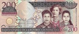 DOMINICAN REPUBLIC 200 PESOS ORO 2007 P-178a UNC LILAC COLOR [ DO178a ] - Dominicana
