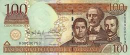 DOMINICAN REPUBLIC 100 PESOS ORO 2004 P-171d UNC LOW SERIAL [ DO171d ] - Dominicana