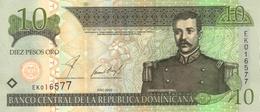 DOMINICAN REPUBLIC 10 PESOS ORO 2002 P-168b UNC [ DO168 ] - Dominicana