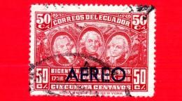 ECUADOR - Usato - 1936 - 200 Anni Della Della Spedizione Scientifica 'La Condamine' - 50 P. Aerea - Ecuador