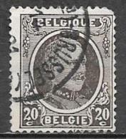 1922 20c King Albert, Used - 1922-1927 Houyoux