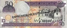 DOMINICAN REPUBLIC 50 PESOS ORO 2003 P-170s UNC SPECIMEN [ DO170s ] - Dominicana