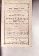 LOUPOIGNE Andrien HANQUINET  époux Philippine GREGOIRE 58 Ans En 1883 Souvenir Mortuaire GENAPPE - Overlijden