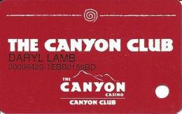Canyon Casino Black Hawk CO Slot Card - No Text Over Mag Stripe - Casino Cards