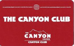 Canyon Casino Black Hawk CO Slot Card - CCS Over Mag Stripe  (BLANK) - Casino Cards