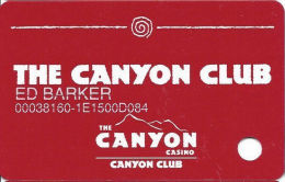 Canyon Casino Black Hawk CO Slot Card - CCS Over Mag Stripe - Casino Cards