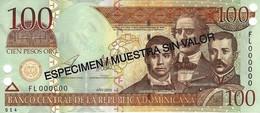 DOMINICAN REPUBLIC 100 PESOS ORO 2003 P-171s UNC SPECIMEN [ DO171s ] - Dominicana
