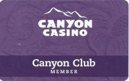 Canyon Casino Black Hawk CO Slot Card - ACC Over Mag Stripe  (BLANK) - Casino Cards