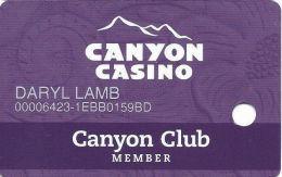 Canyon Casino Black Hawk CO Slot Card - ACC Over Mag Stripe - Casino Cards