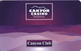 Canyon Casino Black Hawk CO Slot Card  (BLANK) - Casino Cards