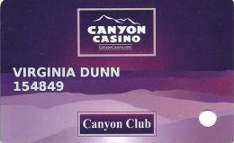 Canyon Casino Black Hawk CO Slot Card - Casino Cards