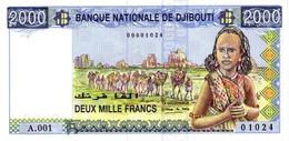 DJIBOUTI 2000 FRANCS ND (1997) P-40 UNC [ DJ105a ] - Djibouti