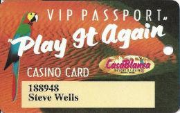 CasaBlanca Casino Mesquite NV Slot Card - CasaBlanca Is Bold On Reverse - Casino Cards