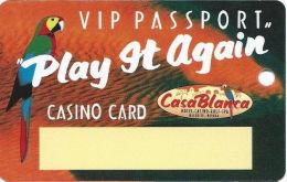 CasaBlanca Casino Mesquite NV Slot Card - 800-459-7529 Phone#  (BLANK) - Casino Cards