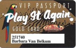 CasaBlanca Casino Mesquite NV Slot Card - Small CasaBlanca On Bottom Line Reverse - Casino Cards