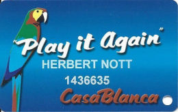 CasaBlanca Casino Mesquite NV - 8th Issue Slot Card - See Description & 2 Scans For Details - Casino Cards