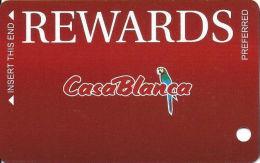 CasaBlanca Casino Mesquite NV - Slot Card  (BLANK) - Casino Cards
