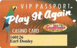 CasaBlanca Casino Mesquite NV - 1st Issue Slot Card - CasaBlanca 2 Words On Reverse - Casino Cards