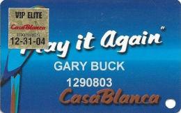 CasaBlanca Casino Mesquite NV - 8th Issue Slot Card - VIP Elite 12-31-04 Sticker - Casino Cards