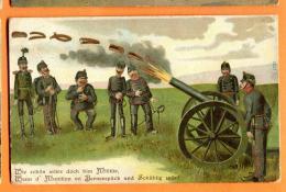 FAS-07 Humour Humor Militaires Militär Wenn Munition Vo Bernerspäch Und Schublig Wär... Stempel Brugg 1903 - BE Berne