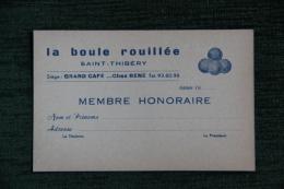 """SAINT THIBERY - LA BOULE ROUILLEE , Grand Café """"CHEZ RENE"""". - Visiting Cards"""