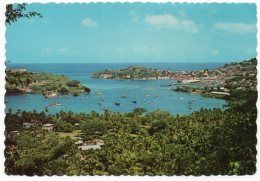 GRENADA - YACHT BASIN AND INNER & OUTER HARBOUR,ST. GEORGE / THEMATIC STAMPS-FISHERMEN / FRUIT - Grenada