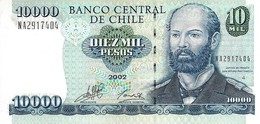 CHILE 10000 PESOS 2002 P-157c UNC RARE DATE [CL294r] - Chile