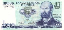CHILE 10000 PESOS 2002 P-157c UNC RARE DATE [ CL157c ] - Chile