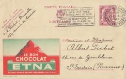 PUBLIBEL 705° : (ETNA) : CHOCOLADE,CHOCOLAT,CHOCOLATE, GEOLOGY,VULKAAN,VOLCAN,VOLCANO, - Entiers Postaux
