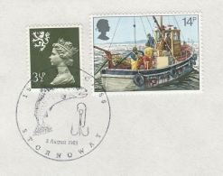 1983 GB COVER EVENT Pmk STORNOWAY SEA ANGLING CLUB ANNIV  Fishing Fish Scotland Isle Of Lewis Regional - Fishes