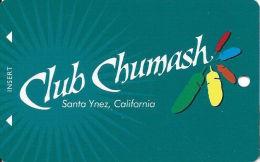 Chumash Casino Santa Ynez, CA Slot Card - CPI 2013119 Over Mag Stripe  (BLANK) - Casino Cards