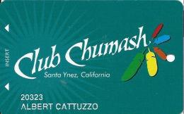 Chumash Casino Santa Ynez, CA Slot Card - CPI 2013119 Over Mag Stripe - Casino Cards