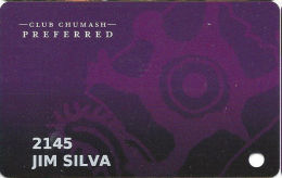 Chumash Casino Santa Ynez, CA Slot Card - Casino Cards