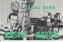 Amateur Radio QSL Card - KZ5UH - Canal Zone - 1977 - Radio Amateur