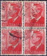 Australia 1950 - King George VI ( Mi 200 - YT 173 ) Block Of Four - 1937-52 George VI