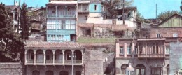 Georgia - Tbilisi - The Old Town - Long Postcard 21.3x9 Cm - Georgia