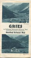 Österreich - Tirol - Gries Im Sellraintal 30er Jahre - Faltblatt Mit 13 Abbildungen - Reiseprospekte