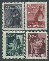 Croatie N° 134 / 38 X  Au Profit Du Personnel Des P.T.T.,  Les 5 Valeurs Trace De Charnière,  Sinon TB - Kroatien