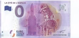 2016 BILLET TOURISTIQUE 0 Euro   La Cite De L'espace       Dpt 31   Numero Aleatoire  Port 1.20 - EURO