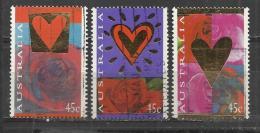 AUSTRALIA 1995 - RED HEART AND ROSES - CPL. SET - USED OBLITERE GESTEMPELT USADO - 1990-99 Elizabeth II