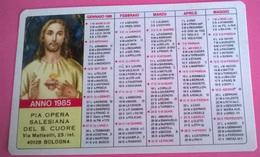CALENDARIETTO 1985 PIA OPERA SALESIANA DEL S. CUORE BOLOGNA - Formato Piccolo : 1981-90