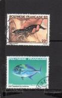 Polynésie:2  TP Oblitérés  N°151 N°193 - Polinesia Francese