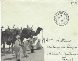 1959- Enveloppe Illustrée De Chameliers  En F.M. Pour La France - Marcophilie (Lettres)