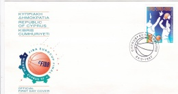 Cyprus FDC 1997 European Men's Clubs Basketball Cup Finals (G85-22) - Briefe U. Dokumente